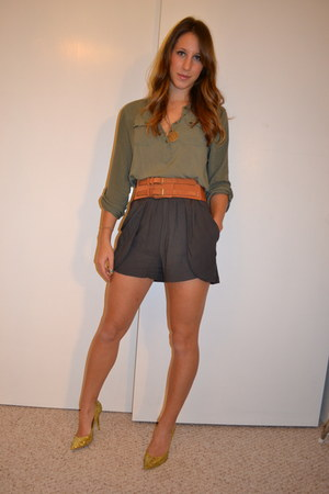 Guess shoes - Urban Outfitters blouse - H&M belt - Final Touch shorts - vintage