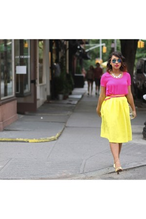 yellow Topshop skirt