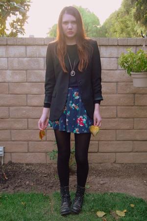 Zara blazer - vintage blouse - Heritage 1981 skirt - Steve Madden shoes - DIY ne