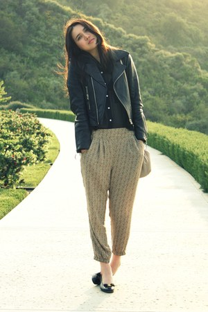black Salvatore Ferragamo shoes - black True Religion jacket - dark khaki H&M pa