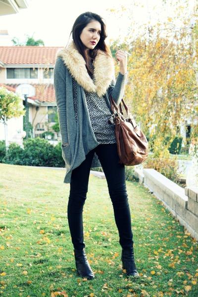 heather gray storets cardigan - black Wholesale-dress Company sweater - black Ja