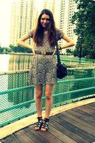 pink Ramona West dress - brown Celine belt