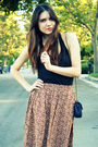 Brown-vintage-skirt-black-theory-top-beige-kelsi-dagger-shoes-blue-vintage
