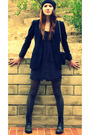 Black-zara-blazer-blue-quicksilver-dress-black-chanel-purse-black-steve-ma