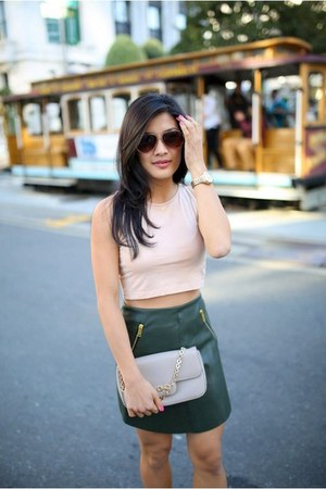 American Apparel top - Zara skirt