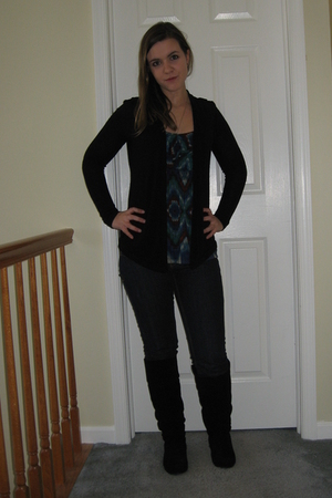 Nordstrom shirt - jeans - Steve Madden boots - Urban Outfitters sweater - Foreve
