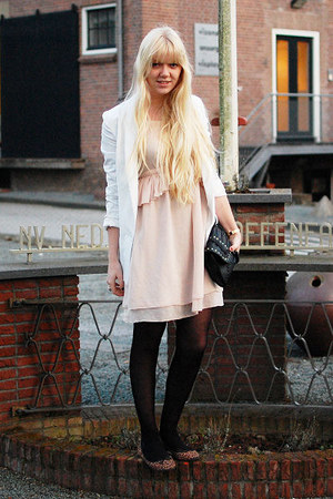 Zara dress - River Island coat - new look blazer - Primark bag - H&M flats