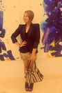Open-toe-boots-padded-blazer-designed-by-me-blazer-bag-necklace