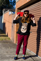 black button up asos shirt - hot pink baseball obey hat