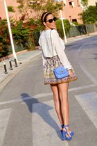 pull&bear sandals - day&day bag - D&G sunglasses - Zara skirt
