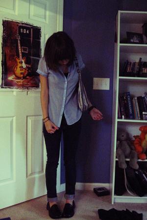 Target blouse - Refuge jeans - shoes - Target purse