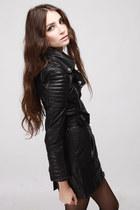 biker trench coat