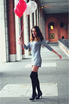 black heels trendy too boots - heather gray dress choiescom dress
