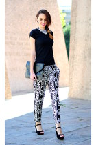 black clutch VJ-style bag - black choiescom pants