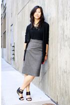 bronze Juicy Couture necklace - black American Apparel top - black Elie Tahari c