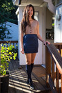 Navy-knee-high-socks