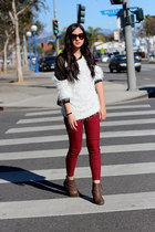 eggshell korea sweater - ruby red Ebay jeans - dark gray Marc Jacobs bag