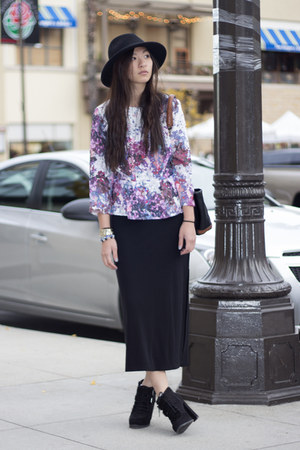 peplum H&amp;M blouse - maxi Gap skirt - Dolce Vita heels