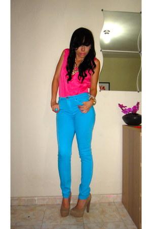 BDG jeans - Ebay blouse - novus pumps - HRH Collection accessories