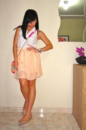 Forever21 blouse - Rebecca Minkoff bag - me too flats - Ebay skirt