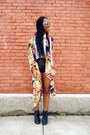 Floral-cardigan-jacket-black-faux-leather-h-m-shorts