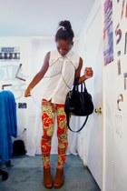 body chain Bao Mae accessories - leggings - rocco-inspired bag - draped back top