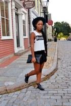 black skort shorts