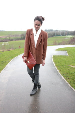 vintage blazer - asos bag