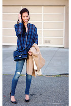 Zara coat - deconstructed Forever21 jeans - Chanel purse