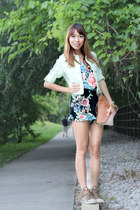 Macys romper - Gap jacket - Aldo bag - Aldo sneakers