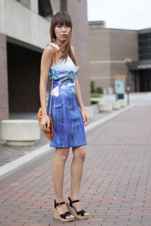 H&M dress - Aldo bag - Michael Kors wedges
