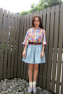 Monki-shoes-topshop-socks-denim-monki-skirt-vintage-belt-monki-top