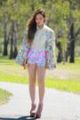 Bubble-gum-floral-minkpink-shorts-flower-hazene-blazer