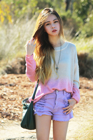 light purple pastel MinkPink shorts - light pink galatin Jeffrey Campbell boots