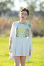 White-jeffrey-campbell-wedges-geometric-sheinside-dress-choies-bag