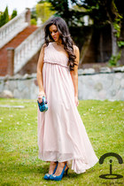 Sheinside dress - asos bag - Zara heels