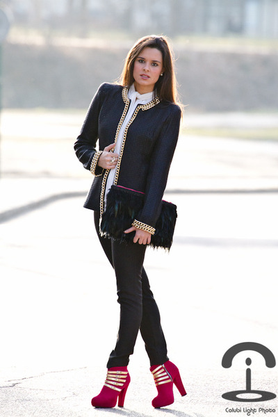 Queens Wardrobe jacket - Amintas Fashion boots - DIY Crmenes de la Moda bag