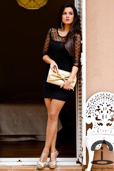 BLANCO dress - H&amp;M bag - Forever 21 earrings