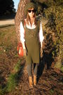 Green-sfera-dress-white-zara-shirt-gray-zara-leggings-beige-zara-boots-b