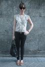 Beige-hm-shirt-black-hm-jeans-brown-zara-shoes-accessories-black-vintage