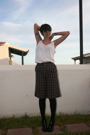 H&M t-shirt - Vtg pants - panties - Ebay shoes