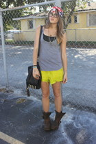 WCP vintage shorts shorts - Jeffery Campbell boots - American Apparel top