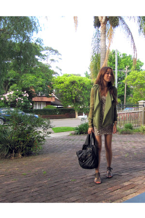 green cteeofsydney jacket - army green cteeofsydney dress - black cteeofsydney b