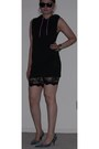 Black-lace-betsey-johnson-shorts-black-dress-with-hood-h-m-hoodie