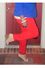Blue-eloquii-blazer-red-new-york-company-jeans-michael-kors-bag