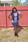 Black-suede-rachel-roy-boots-black-striped-sears-skirt-light-purple-burnout-