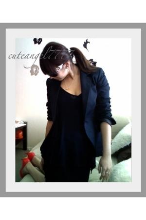 Zara blazer - Zara blouse - Kimchi&Blue skirt - Chanel shoes - Chanel purse