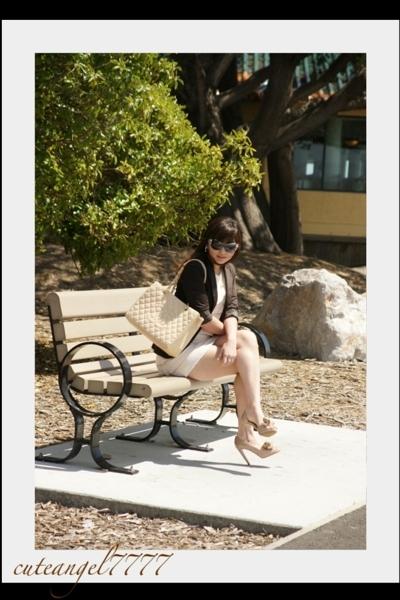 Zara blazer - Vivicam dress - Chanel purse - Valentino shoes