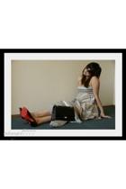 Zara dress - Chanel purse - Christian Louboutin shoes - Zara blazer - christian