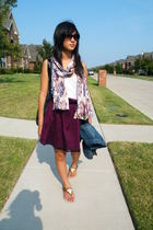 H&M scarf - Target top - Burberry top - Burberry top - H&M sunglasses - random j